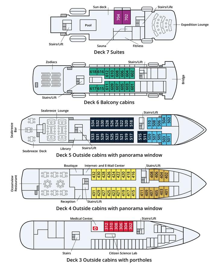 Seaventure Deckplan englisch