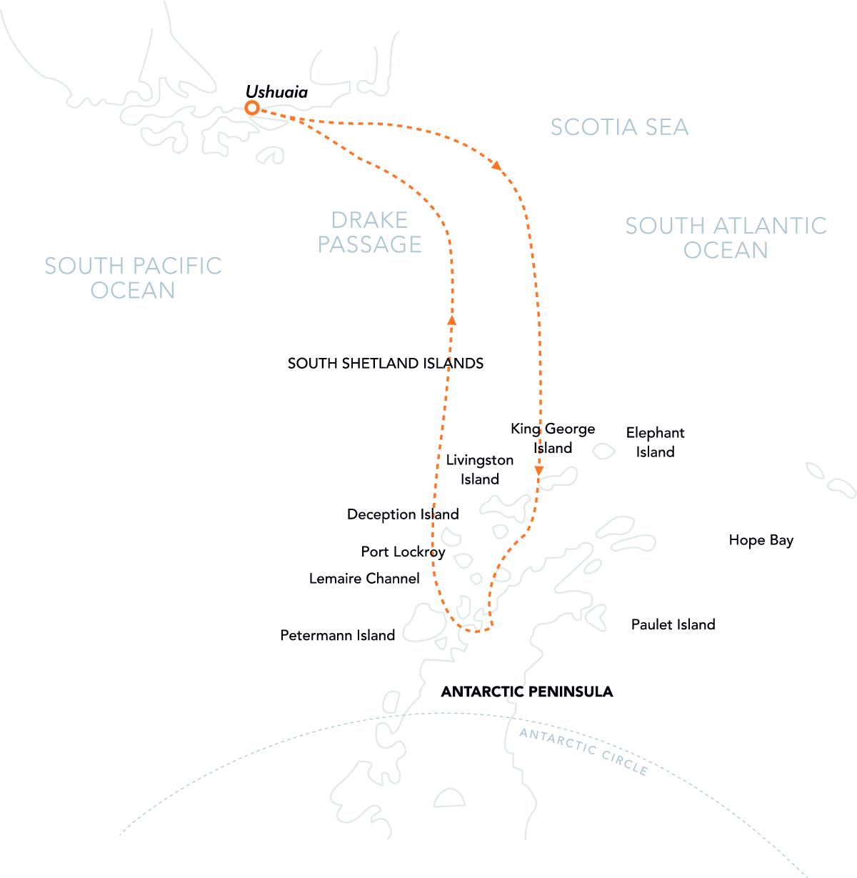 PL Route Map Celebrating Antarctica